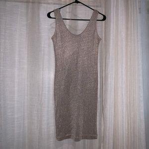 Dresses & Skirts - Metallic knit vest dress